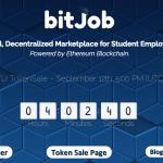 【ICO】学生向けオンライン短期雇用市場の仮想通貨「bitJob(ビットジョブ)」についてまとめてみた