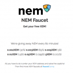 【無料】無料で1時間ごとにNEMのトークンがもらえるサイト「nemfaucet(ネムフォーセット)」についてまとめてみた