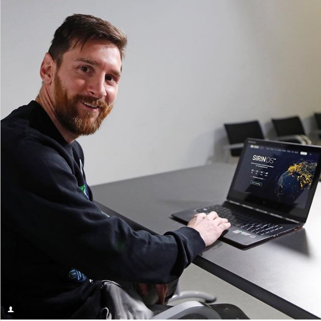 Lionel Messi(リオネル・メッシ)仮想通貨FINNEY Sirin Labs アンバサダー