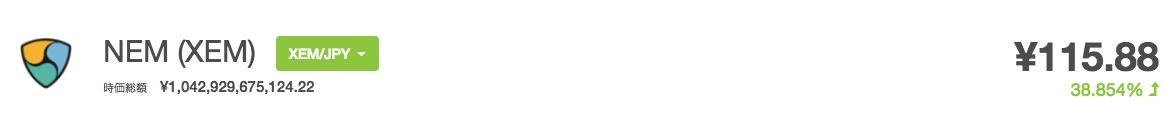 NEM(ネム)12月19日 高騰