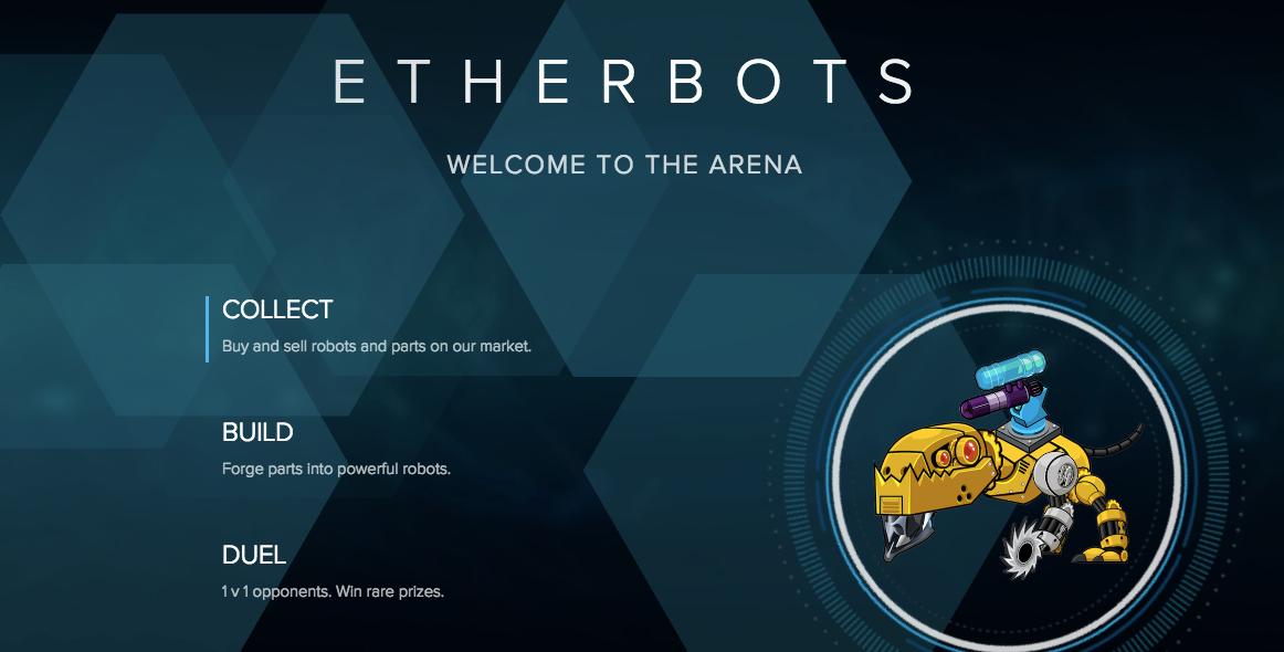 Ethereum(イーサリアム) dapps EtherBots