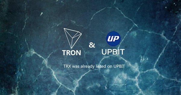 TRON(トロン) UPBit 上場
