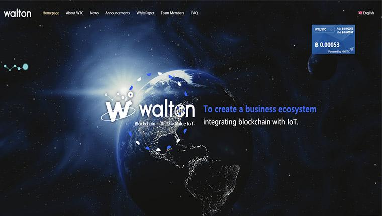 Walton(ウィルトン) 仮想通貨