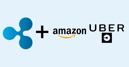 Ripple(リップル) Uber(ウーバー) Amazon(アマゾン)