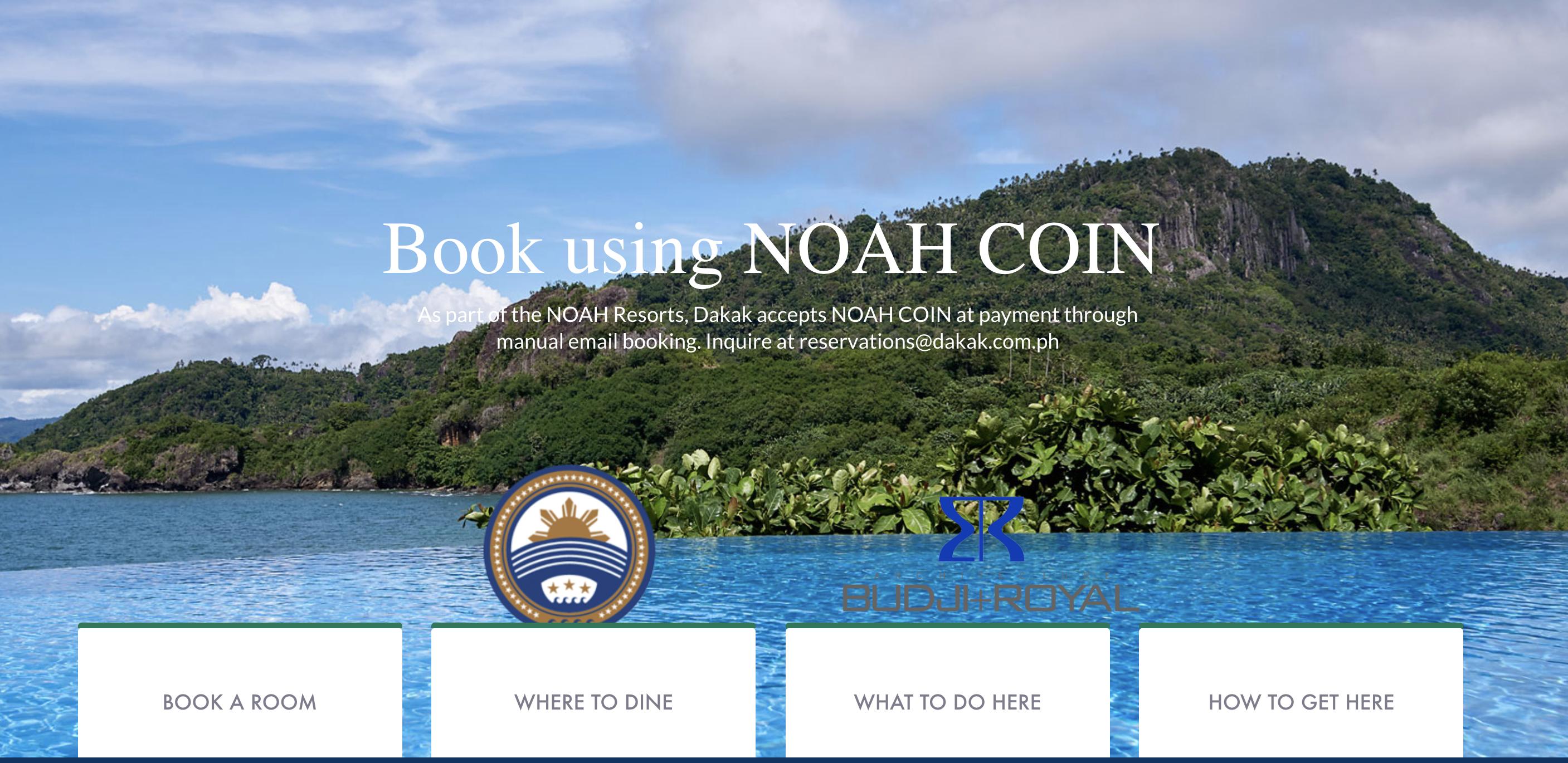 ダカックビーチリゾート NoahCoin(ノアコイン) 利用可能