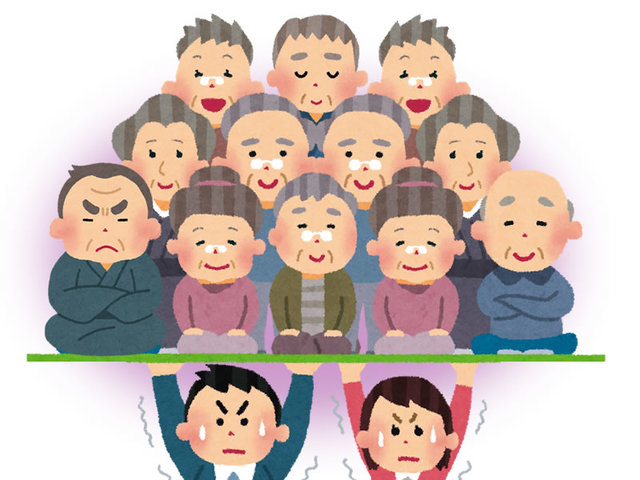 日本 2024年 三分の一 65歳以上