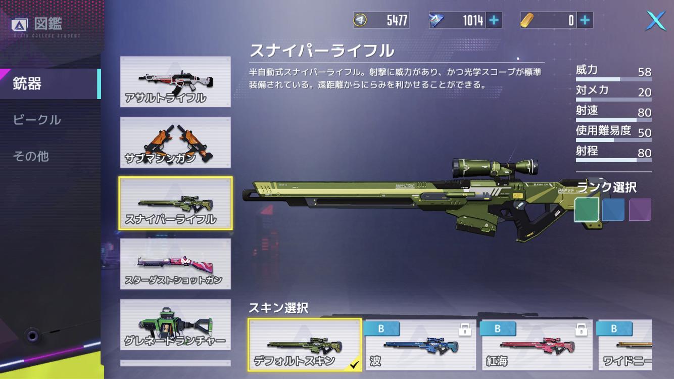 機動都市X 武器 スナイパーライフル