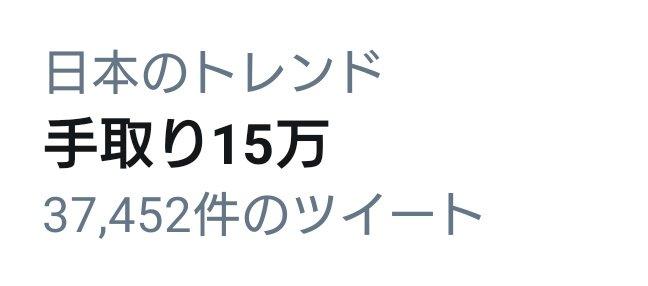 Twitter(ツイッター) 手取り15万円