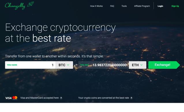 Changelly 仮想通貨