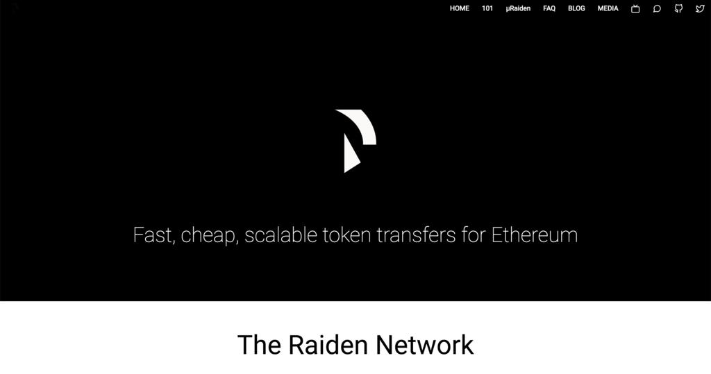 Ethereum(イーサリアム) Scalability(スケーラビリティ) Raiden(ライデン)