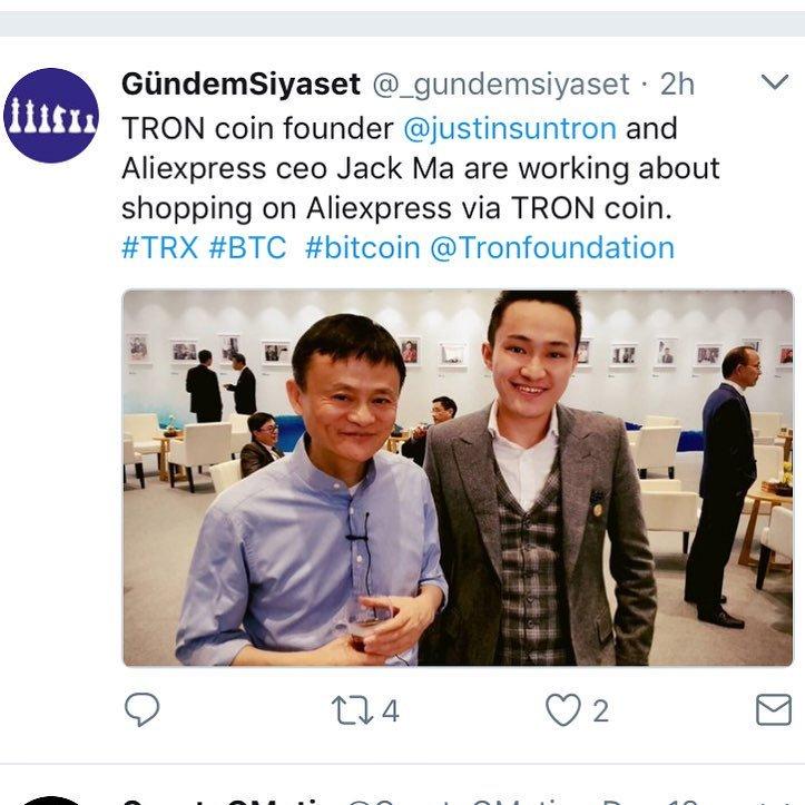 TRON(トロン) Alibaba(アリババ)