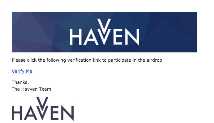 Airdrop(エアドロップ)  ペッグ通貨 Havven ICO