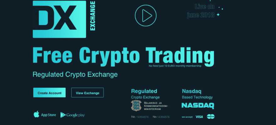 NASDAQ(ナスダック) 6月 仮想通貨取引所 dx.exchange