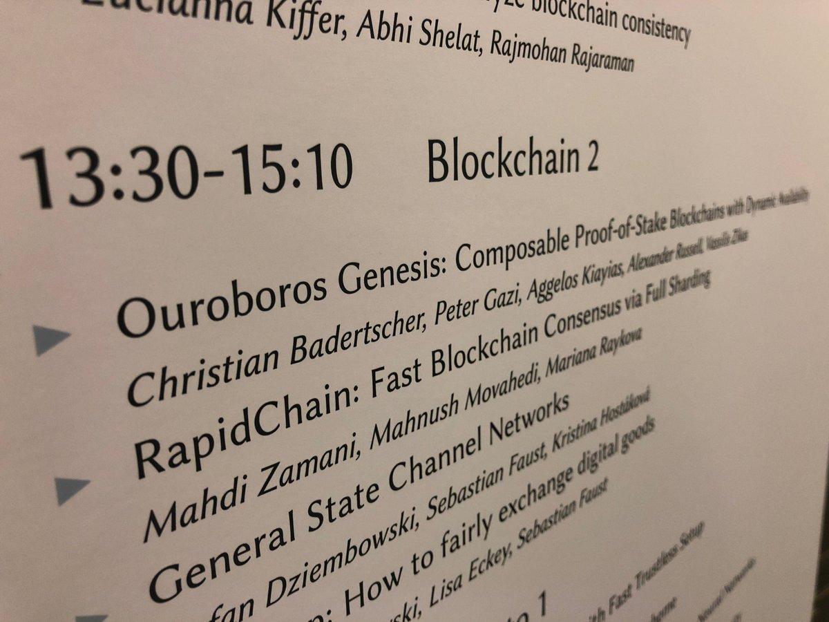 Cardano(カルダノ) ACM CCS 2018 Uroboros Genesis(ウロボロスジェネシス)