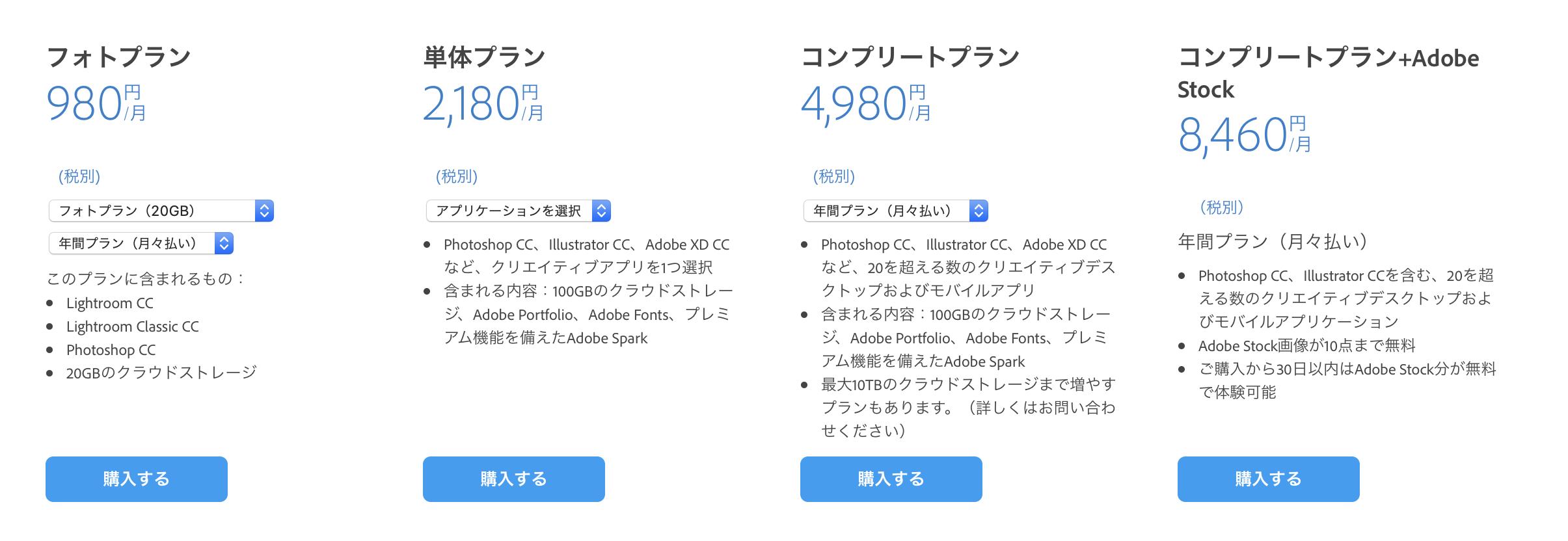 Adobe(アドビー) 2月12日 値上げ