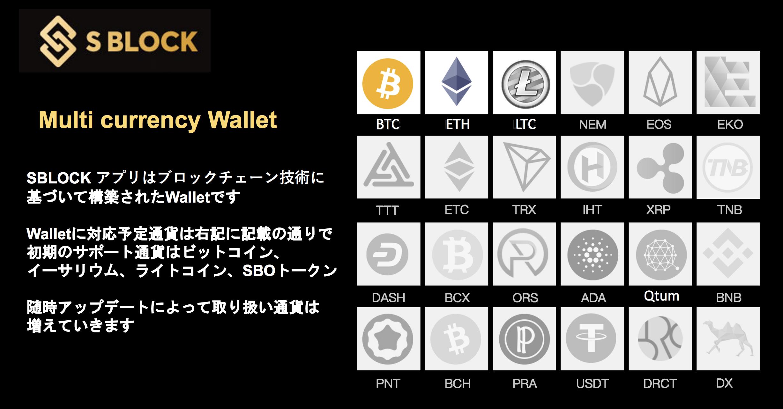 SBLOCK(エス・ブロック) 通貨