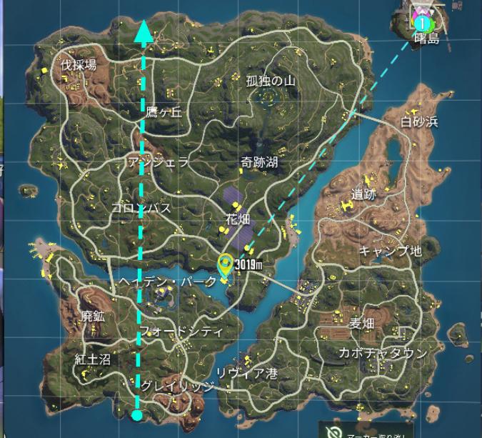 サイバーハンター マップ 着陸地点