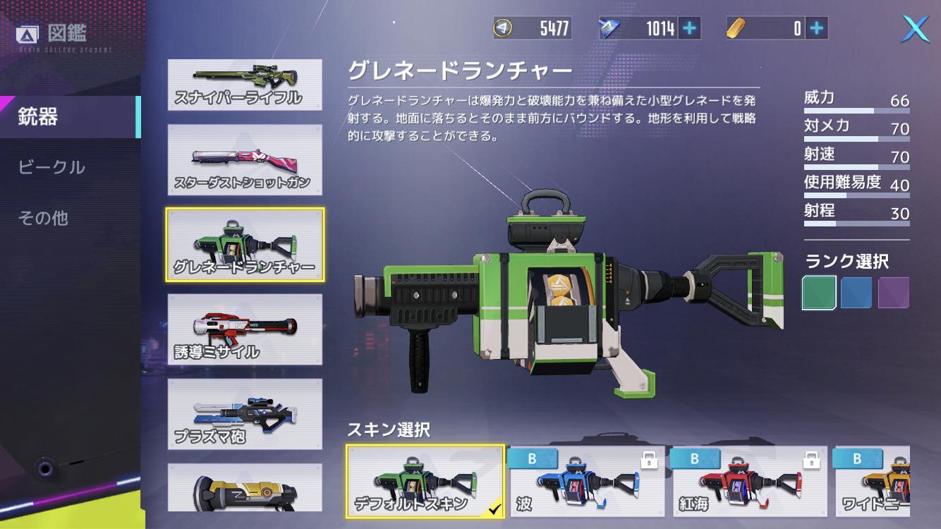 機動都市X 武器 グレネードランチャー